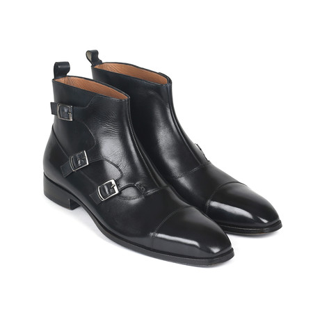 Triple Monkstrap Boots // Black (Euro: 37)