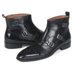 Triple Monkstrap Boots // Black (Euro: 38)