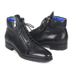 Side Zipper Leather Boots // Black (Euro: 39)