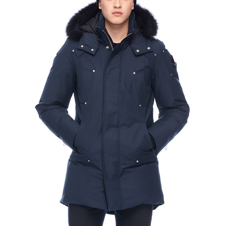 Men's Stirling Parka // Navy + Black (L)