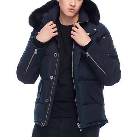 Men's 3Q Jacket // Navy + Black (S)
