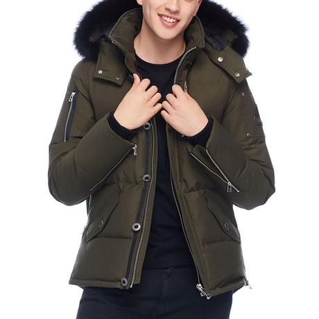 Men's 3Q Jacket // Army + Black (S)