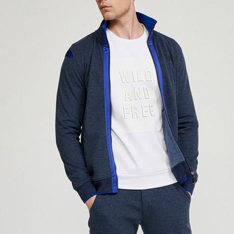 Mathew Zip Up Sweatshirt // Navy (S)