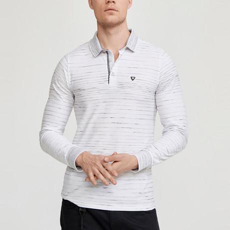 Cory Long Sleeve Polo Shirt // White (S)