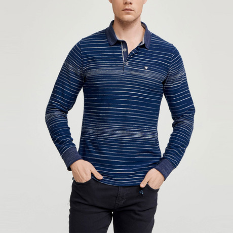Oliver Long Sleeve Polo Shirt // Navy (S)
