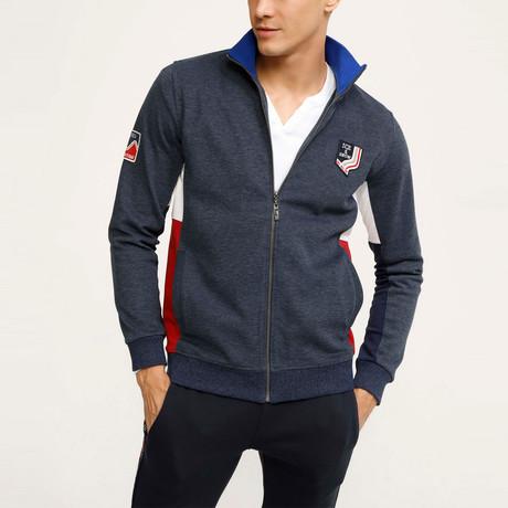 Hayden Zip Up Sweatshirt // Navy (S)