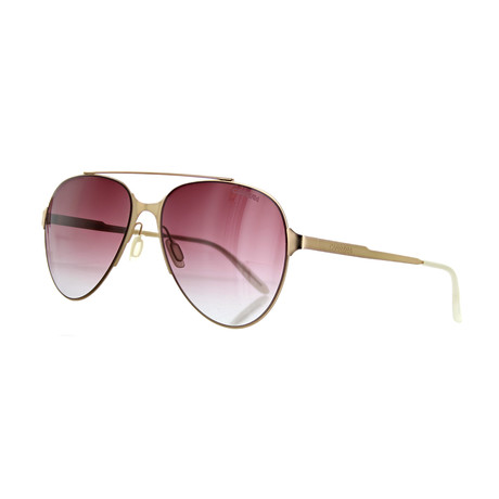 Unisex Aviator Sunglasses // Copper Gold