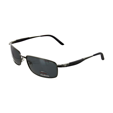 Men's Polarized Rectangular Sunglasses // Ruthenium