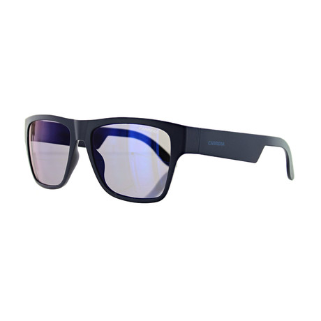 Men's Square Mirror Sunglasses // Blue