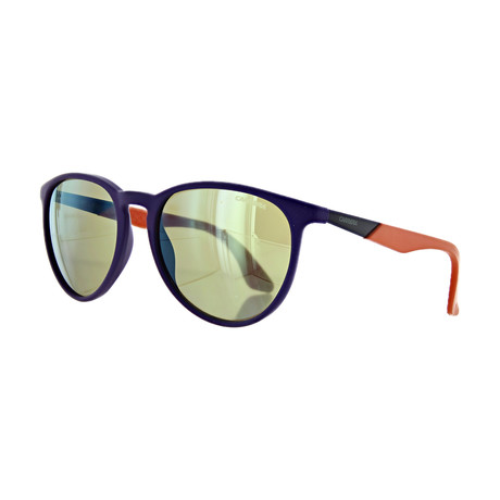 Unisex Round Mirror Sunglasses // Violet Orange