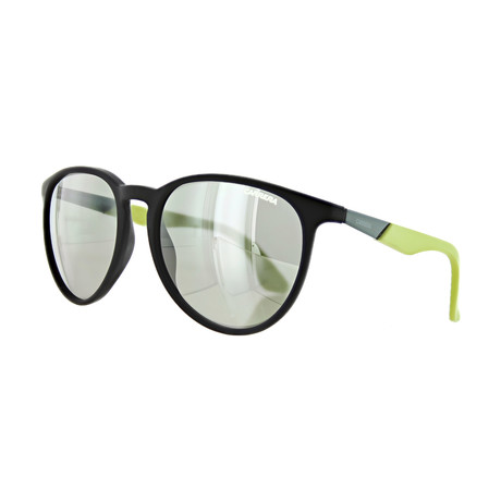 Unisex Round Mirror Sunglasses // Black Lime