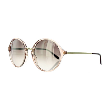Women's Round Sunglasses // Pink Gold