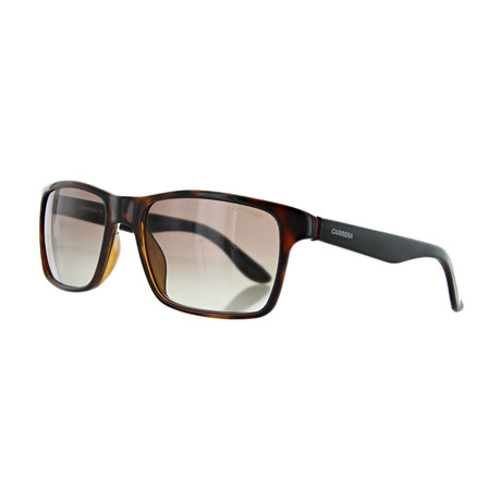 Men's Rectangular Gradient Sunglasses // Havana Black