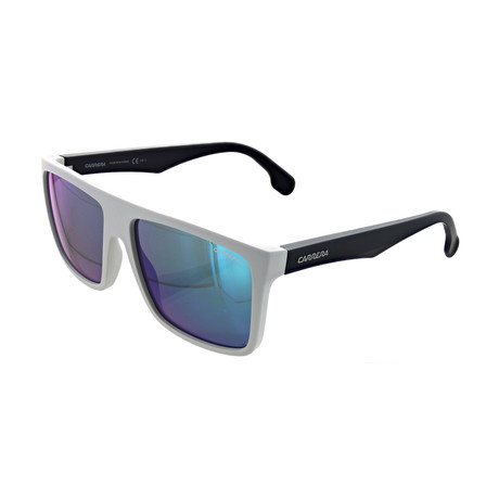 Unisex Polarized Square Sunglasses // Matte White, Blue