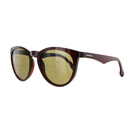 Carrera // Unisex Round Sunglasses // Burgundy