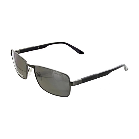 Men's Polarized Rectangular Sunglasses // Matte Ruthenium Gray