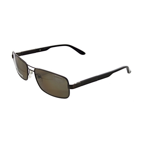 Men's Polarized Rectangular Sunglasses // Matte Brown