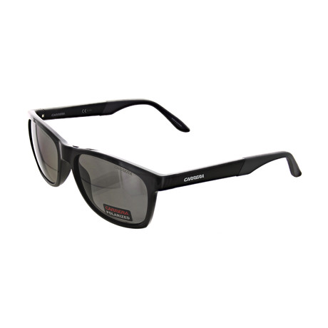 Men's Polarized Square Sunglasses // Shiny Black