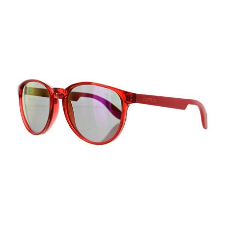 Carrera // Unisex Round Photocro Sunglasses // Red Coral