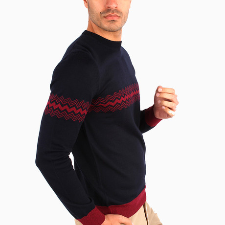 Adorjan Wool Sweater // Navy Blue (S)