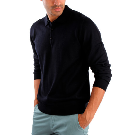 Matteo Wool Sweater // Dark Blue (S)