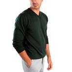 Pietro Wool Sweater // Dark Green (L)