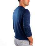 Pietro Wool Sweater // Indigo (L)