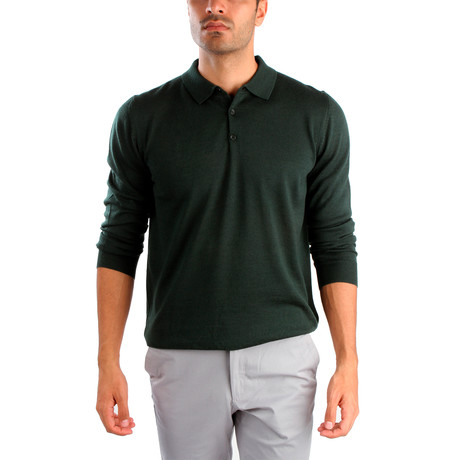 Matteo Wool Sweater // Dark Green (S)