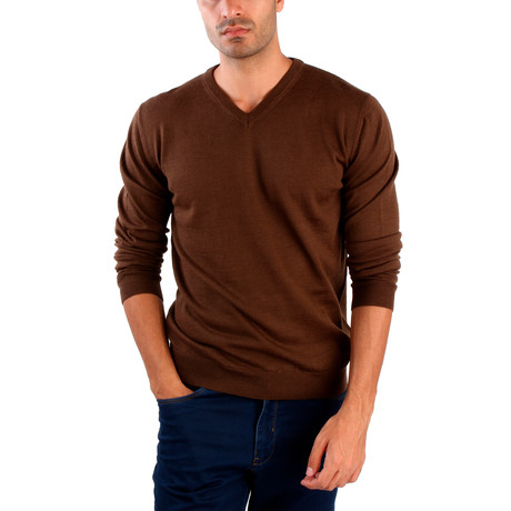 Pietro Wool Sweater // Brown (S)