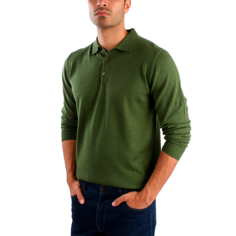 Matteo Wool Sweater // Green (S)