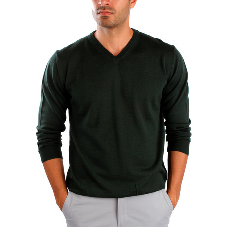 Pietro Wool Sweater // Dark Green (S)