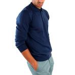 Matteo Wool Sweater // Indigo (S)