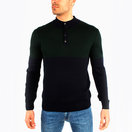 Adorjan Wool Sweater // Dark Green (S)