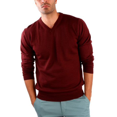 Pietro Wool Sweater // Bordeaux (S)