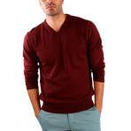 Pietro Wool Sweater // Bordeaux (L)