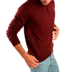 Matteo Wool Sweater // Bordeaux (2XL)