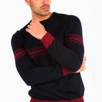 Adorjan Wool Sweater // Navy Blue (2XL)