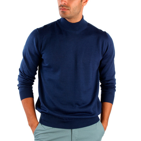 Hector Wool Sweater // Indigo (S)