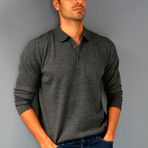 Matteo Wool Sweater // Anthracite (XL)