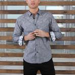Alec Print Button-Up Shirt // Black (S)
