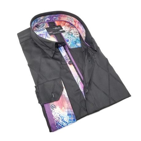 Joseph Print Button-Up Shirt // Black (S)
