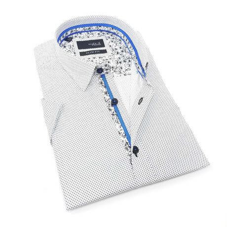 Blake Print Button-Up Shirt // White (S)