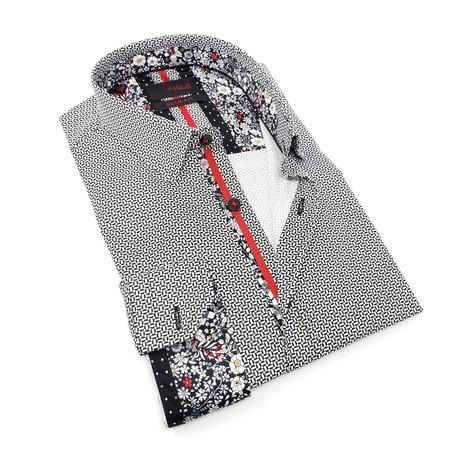 Lake Print Button-Up Shirt // Black (S)