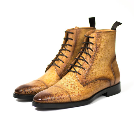 Pierre Boot // Natural Pebbled Leather (UK: 7)