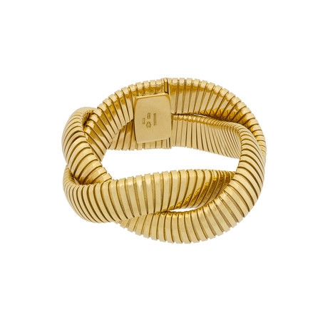 Estate 18k Yellow Gold Twisted Bracelet