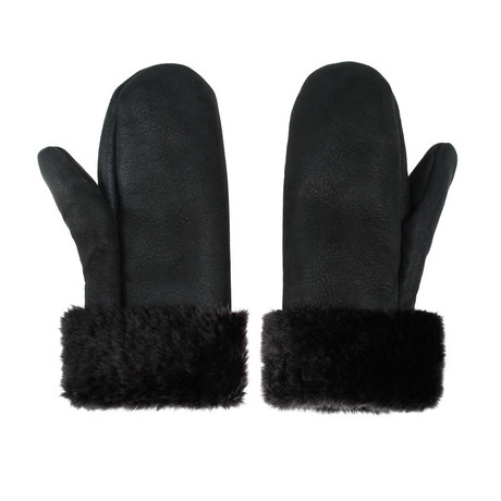 Unisex Shearling Mittens // Gray (Large)