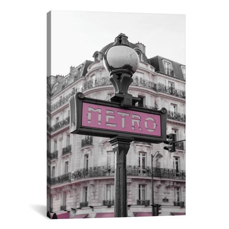 """Black & White Pink Metro // Pixy Paper (12""""W x 18""""H x 0.75""""D)"""