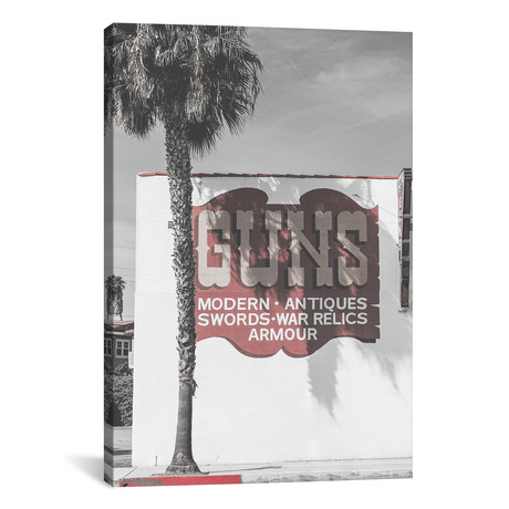 "Guns Vintage Sign // Pixy Paper (12""W x 18""H x 0.75""D)"