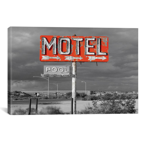 "Red Motel Sign // Pixy Paper (18""W x 12""H x 0.75""D)"