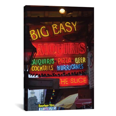 "Neon Sign II, Big Easy Daquiris, Bourbon Street, French Quarter, New Orleans, Louisiana, USA // Jamie & Judy Wild (12""W x 18""H x 0.75""D)"